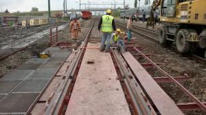 16. kép Provizórium beépítése Mezőberény állomáson