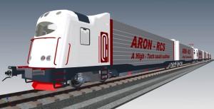 12. ábra Hatrészes ARON-RCS vonat térbeli jellegrajza